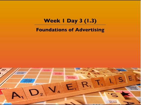 1. 3 Foundations Of Advertising