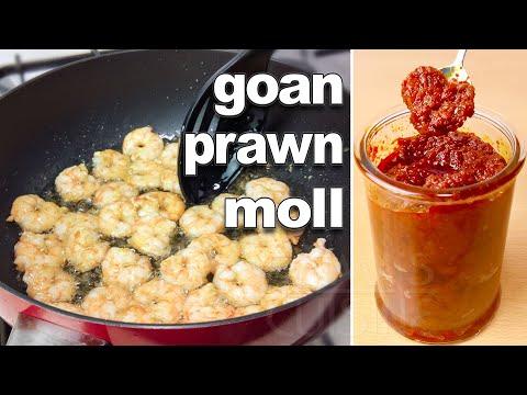 Homemade Prawn Pickle Recipe   Goan Prawn Moll / Molho Recipe   Goan Food Recipes   Prawn Recipes