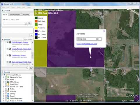 FreeHuntingLand.com - Downloading hunting lands for GE and setting the transparency of each layer
