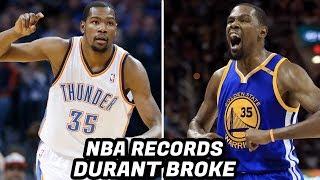 NBA RECORDS Kevin Durant Has Broken! Crazy NBA Finals Records and Stats!