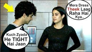 Jhanvi Kapoor UNCOMFORTABLE While Posing With Ishaan Khattar At Dhadak Movie Success Party