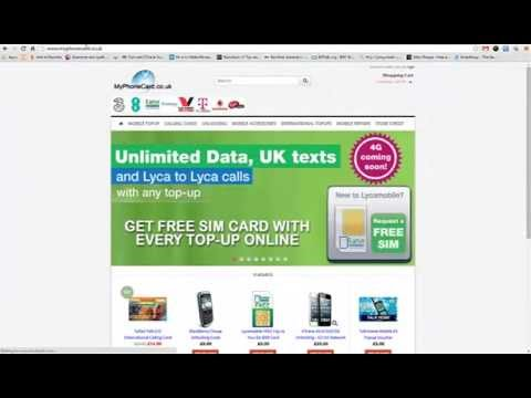 How to Top Up Lebara Mobile £20 Voucher Online