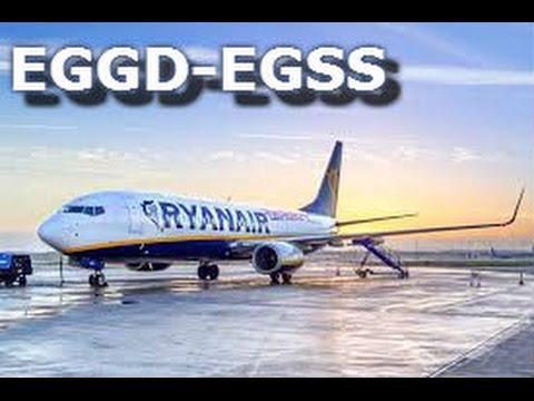 Vatsim | RyanAir | PMDG 737 | EGGD-EGSS