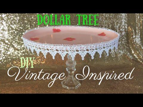 Dollar Tree DIY - Vintage Cake Stand | Cupcake Stand