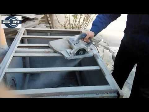 CS diamond saw blade cutting Granite test