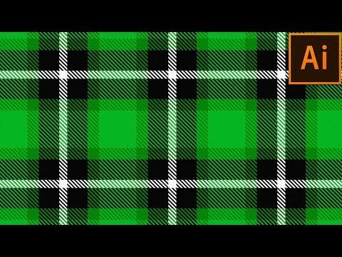 How to create Plaid Checkered Fabric Pattern in Illustrator | Adobe Illustrator Tutorial