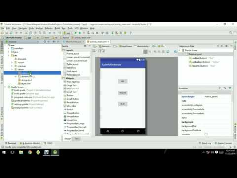 how to change action bar color android studio By Abdul Moqueet Wahedi.