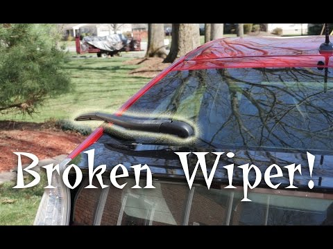 Fix Broken Rear Wiper Toyota Prius
