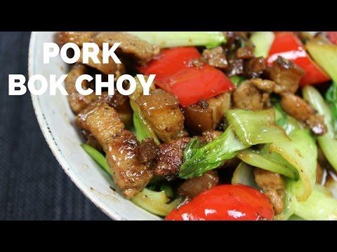 Stir Fry Pork With Bok Choy
