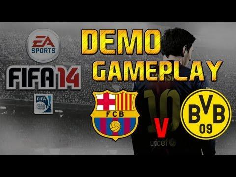 | Fifa 14 Demo Gameplay: Barcelona vs Borussia Dortmund |