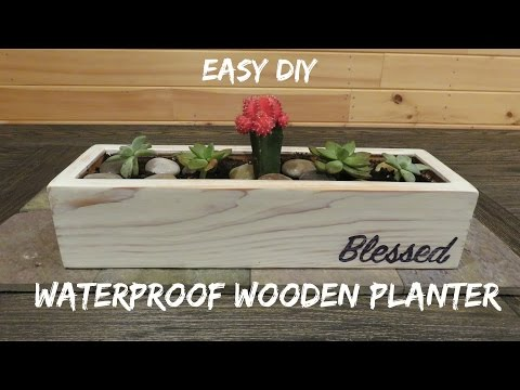 DIY Waterproof Wood Planter