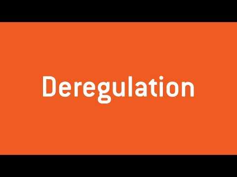 What is energy deregulation?
