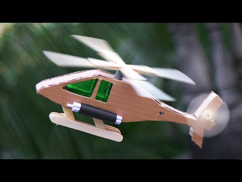 How To Make a Helicopter using Cardboard