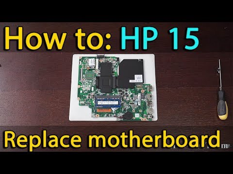 HP 15 (15-D035DX 15-020DX) motherboard replacement, замена материнской платы
