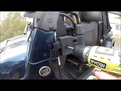 Jeep Wrangler ~ DieTech Mirror Bracket Installation and Review