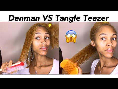 Denman Brush VS Tangle Teezer on Natural Hair