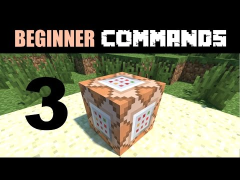 Beginner Command Block Tutorial Part 3 - The /fill and /clone Commands