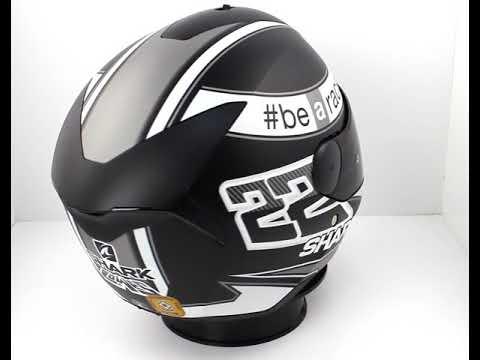 Shark D-SKWAL Sam Lowes Motorcycle Helmet Mat Black