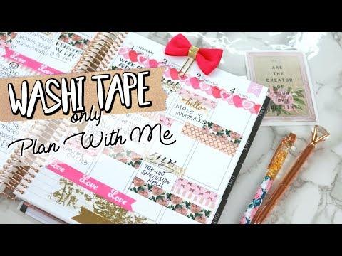 WASHI TAPE ONLY PLAN WITH ME + $650 GIVEAWAY! | Belinda Selene