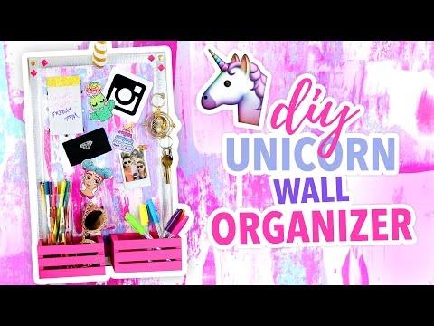 DIY ~UNICORN~ Wall Organizer - Cute Room Decor | @karenkavett