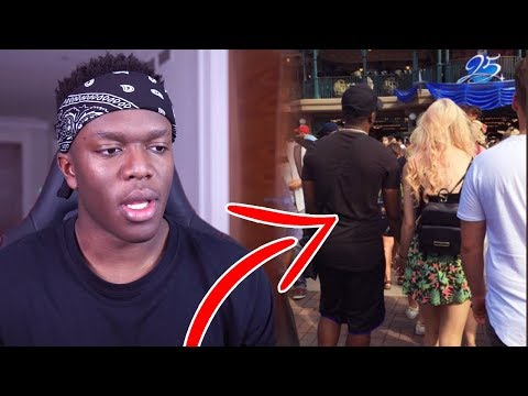 *LEAKED* KSI SPOTTED with NEW GIRLFRIEND at DISNEYLAND, Jake Paul a RACIST?!