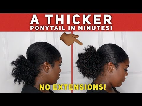 HOW TO GET A THICK, SLEEK PONYTAIL| NO EXTENSIONS/FAKE HAIR!