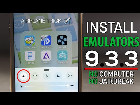 NEW DATE TRICK?! AIRPLANE TRICK! Install EMULATORS on iOS 9.3.3 for FREE & Permanent! (NO JAILBREAK)