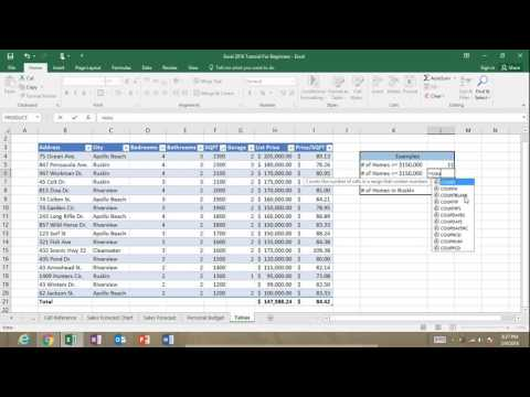 Excel COUNTIF Function Tutorial: Excel 2016 Range Criteria Greater Than