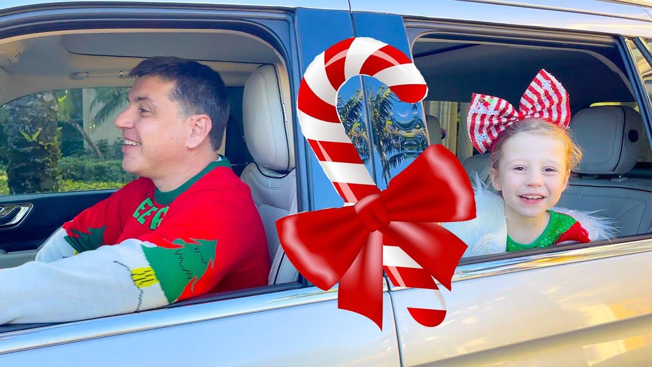 Download Nastya and Family drive-thru Christmas trip MP3 Gratis