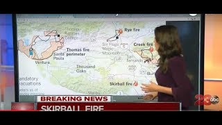Full breakdown of the four major fires in Southern California