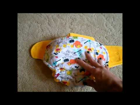 Monkey Rump Diapers One-Size Hybrid Fitted Diaper - Review and Demo