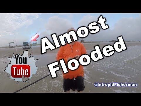 Texas City Dike remix - Almost flooded my car and Tyler caught a redfish