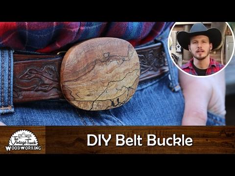 DIY - Making Your own Wooden Belt Buckle