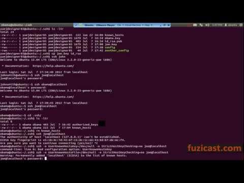 UNIX-1.12 SSH Command (Video Tutorial)