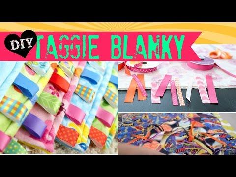 DIY Taggie Blanky for Babies - 2 minute tutorials