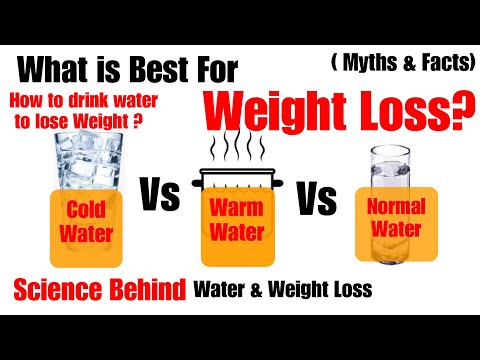 What is best for Weight Loss ? Cold water/Warm water / Normal Water | Water & Weight Loss | In Hindi