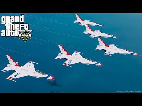 GTA 5 Mods - Thunderbirds Missing Man Formation