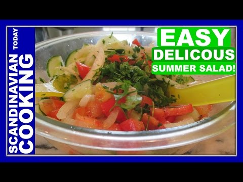 How to Make Tomato, Cucumber, and Onion Salad Recipe - A Delicious Summer Salad! ☀️