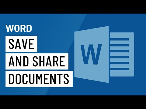 Word 2016: Saving and Sharing Documents