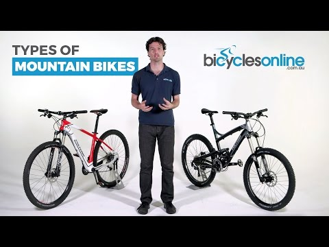 What are the different types of Mountain Bikes?