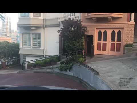 Driving down Lombard street (San Francisco CA) April 2018 crooked street