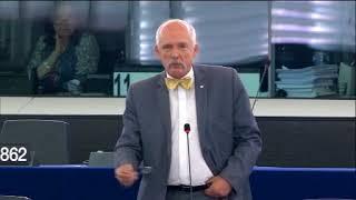 POLISH MEP OFFENDS EU IN A DEBATE ON AFRICA - JANUSZ KORWIN-MIKKE