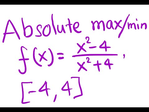 Find absolute max and min of a rational function using closed interval method