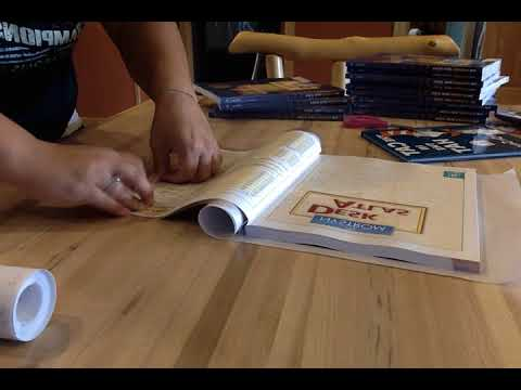 Covering Books With Contact Paper (The Easy Way)