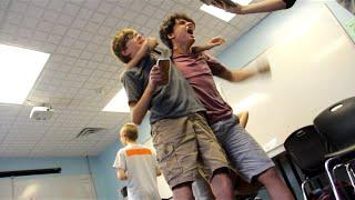 Teacher vs. Students in Battle Bot Royale