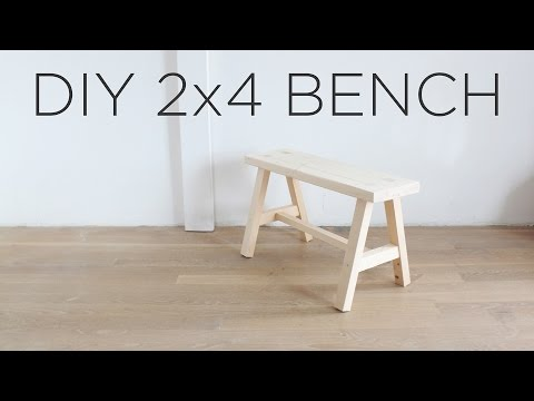 DIY 2x4 Bench | The Two 2x4 Challenge