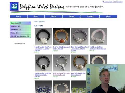 Hand-made Jewelry Artist Website Design Review (video)