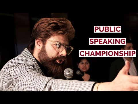 1 Hack to Overcome Stage Fright   Speech at India's Best Public Speaking Championship