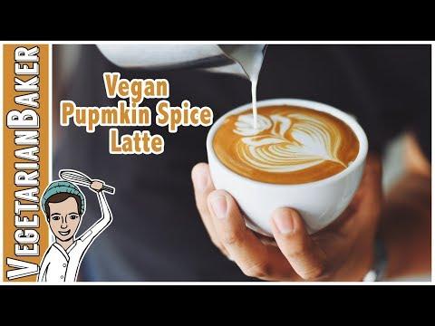 DIY Vegan Pumpkin Spice Latte!   ASMR Cooking Sounds