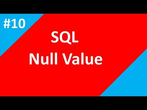 NULL Value in sql | Part 10 | SQL tutorial for beginners | Tech Talk Tricks